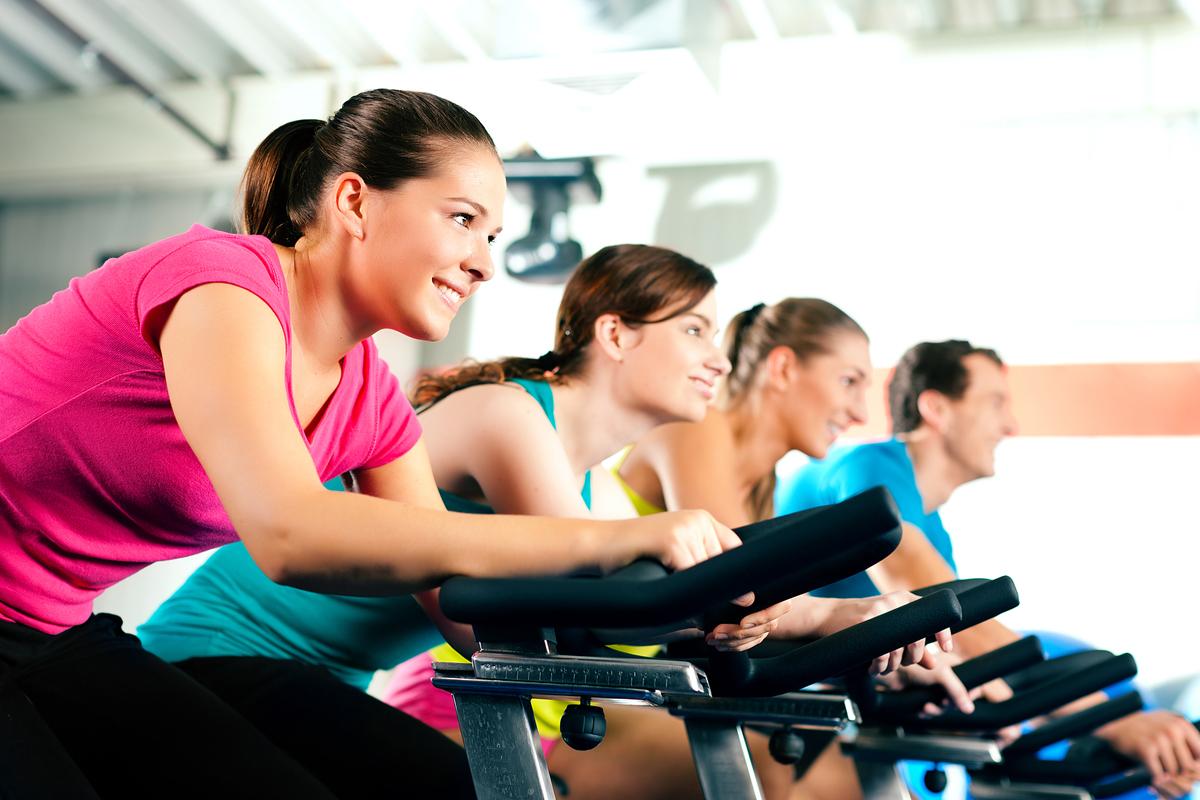 Haciendo ejercicio en el gimnasio